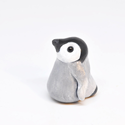 polymerclay, fimo, penguin, bird