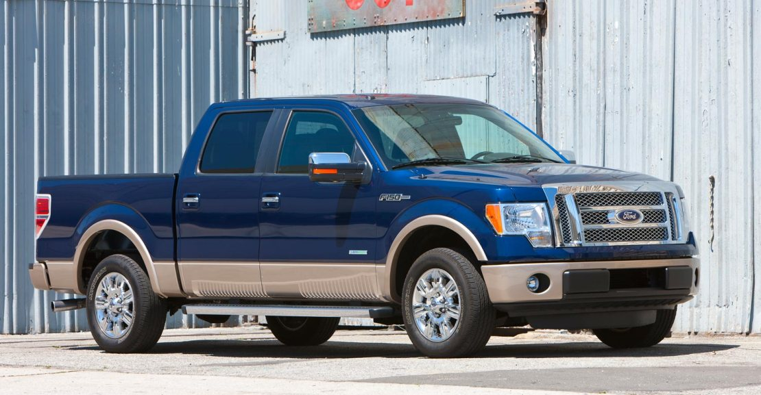 2011 ford f 150 ecoBoost lariat superCrew front three quarters view