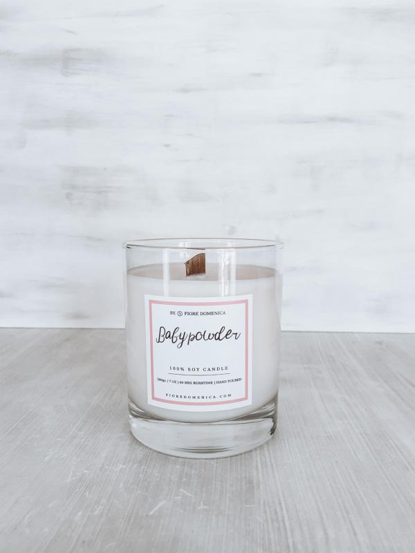 Αρωματικό κερί σόγιας Baby Powder