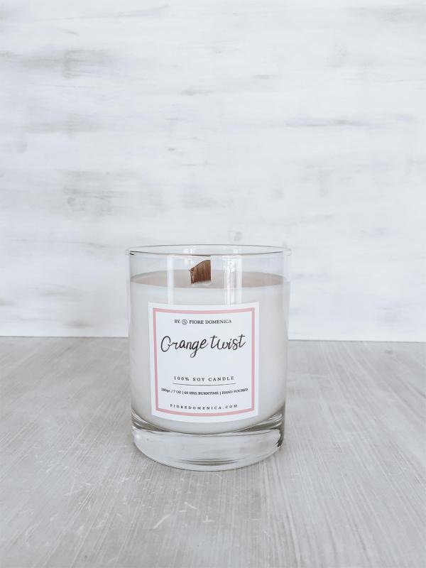 Αρωματικό κερί σόγιας Orange Twist