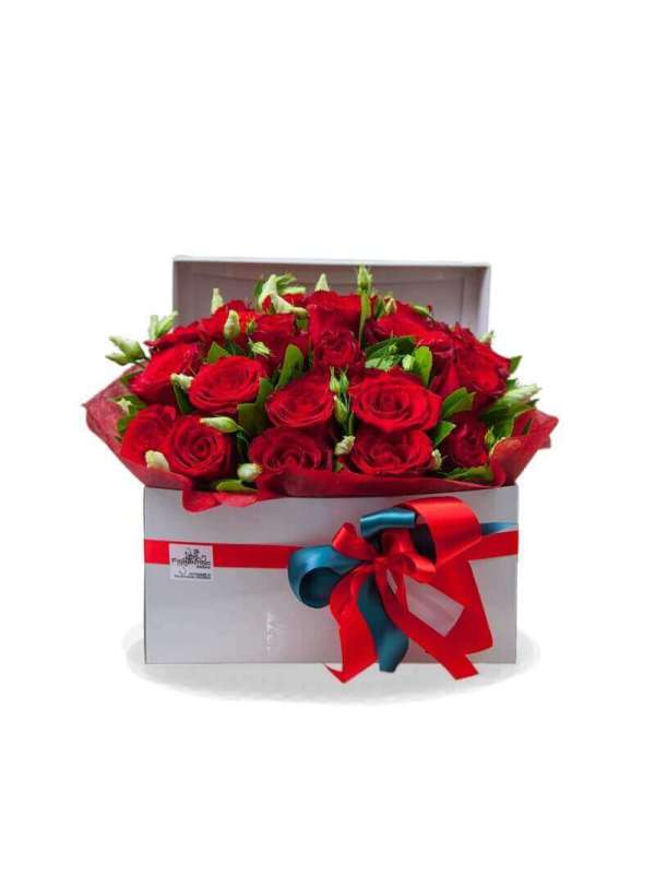 """FLOWER BOX """"SIMPLY RED"""""""