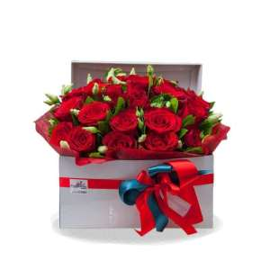 "FLOWER BOX ""SIMPLY RED"""