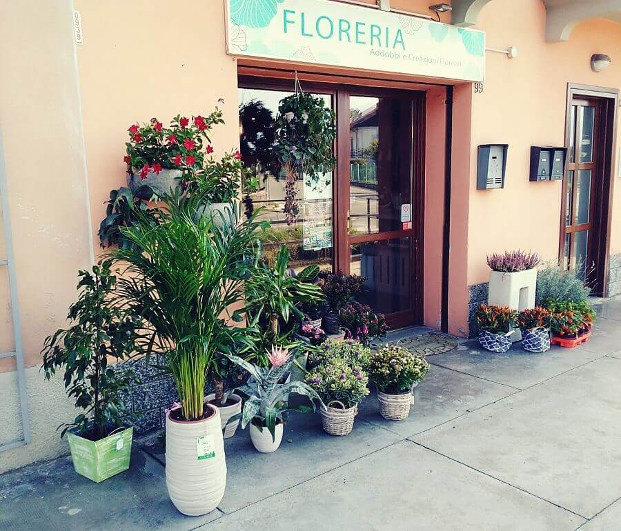 foto dell'esterno del negozio di floreria il Fioraio a Ciriè