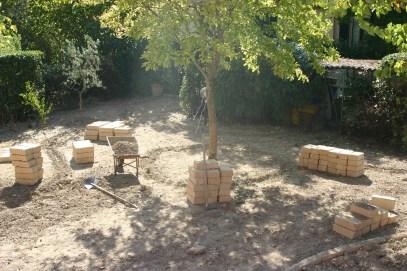 preparazione giardino geometrico