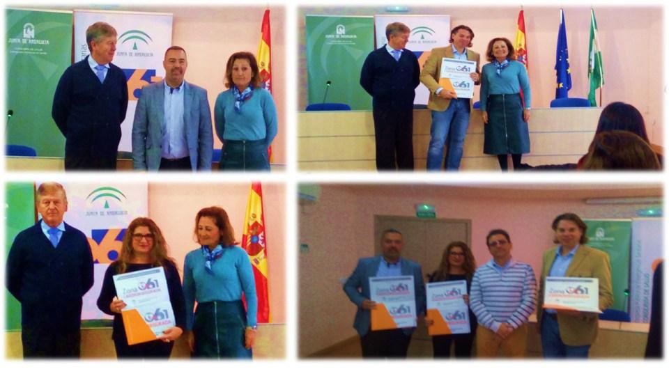 Alejandro JPP electronica, Jorge Portela,Centro Escolar Escolapios Hispalence, Mercedes Diaz Directora Fundacion Psicopediatría de Sevilla.