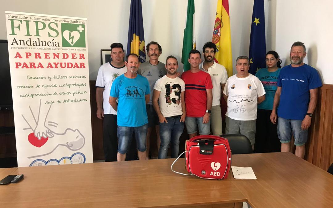 Protección Civil de Fuentes de Andalucía Cardio protege sus eventos y a sus vecinos.