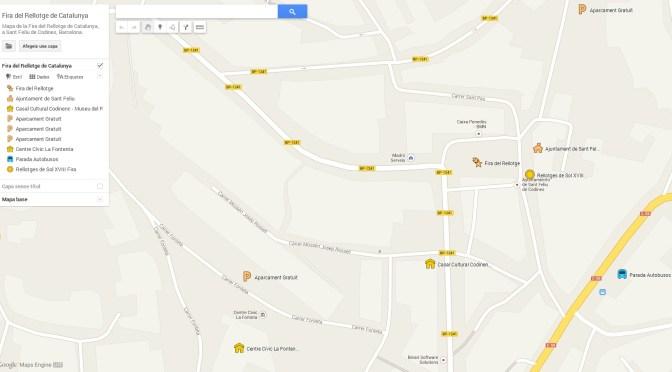 Mapa de la Fira del Rellotge a Google Maps