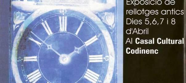 1a Edició de la Fira del Rellotge, 7 d'abril de 1996