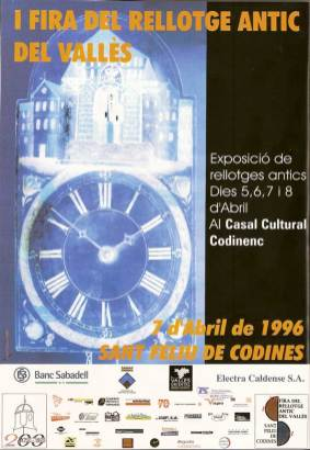 Cartell I Fira del Rellotge Any 1996