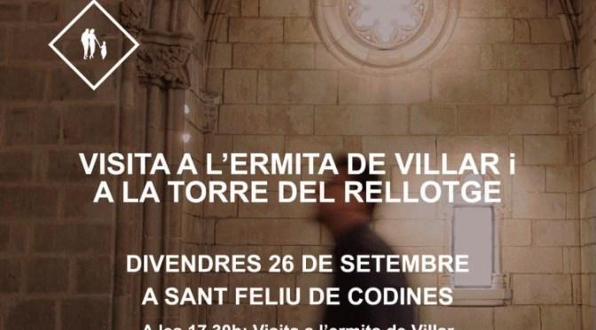 Divendres 26 visita guiada a la Torre del Rellotge