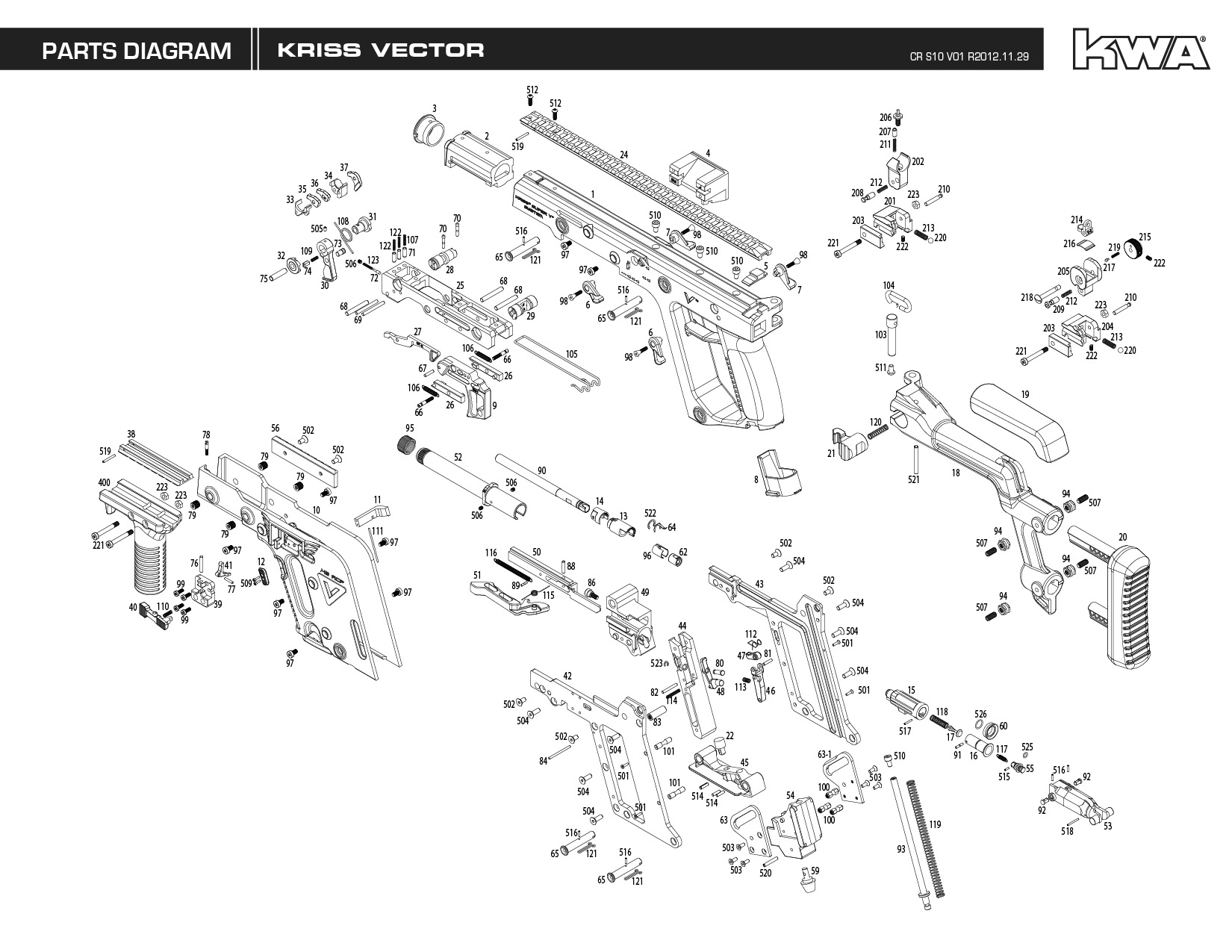 Kwa Airsoft Gun Manual Kriss Vector