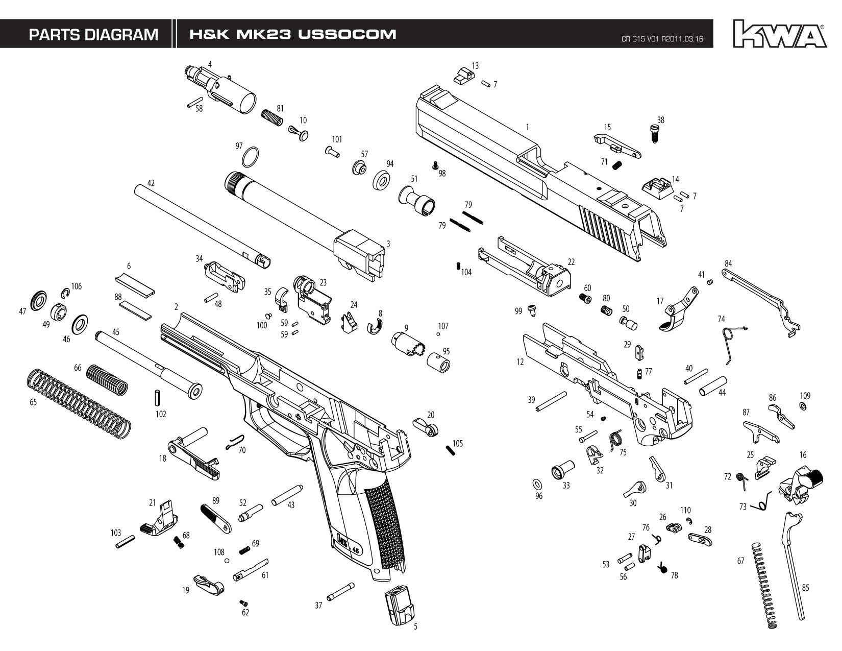 Kwa Gun Manual H Amp K Mk23