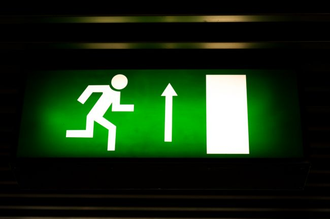 emergency lighting sign