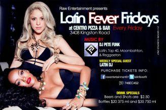 Latin Fever Fridays Centro Bar 3408 Kingston Rd. Pete Funk