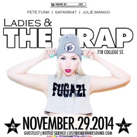 Ladies & The Trap November 29 Crawford FIre 4 Hire Sound Pete Funk Julie Mango Safari647