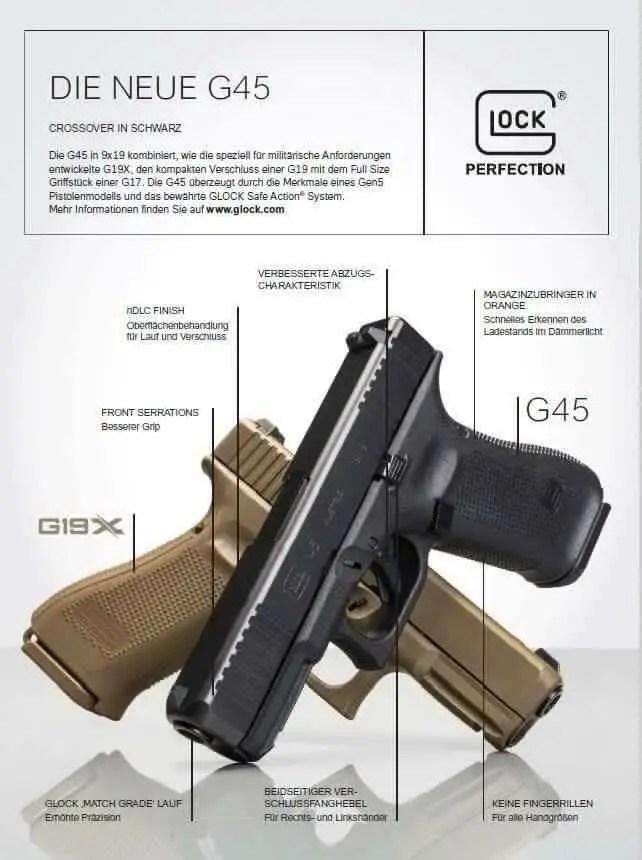 Glock 45 Gen5 Glock 17 Mos Leaked Black Glock 19x Firearm Rack