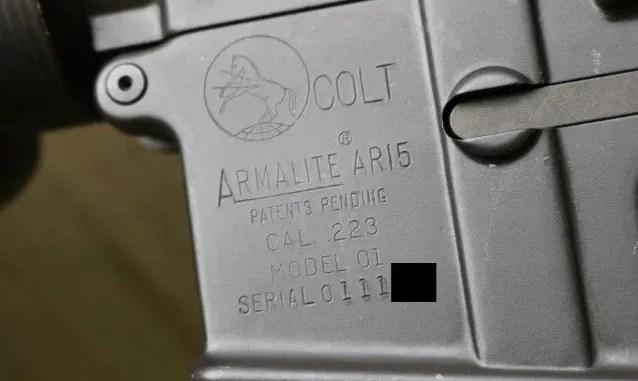 colt ar 15 serial number location