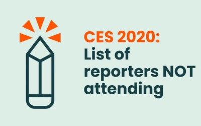 CES 2020: List of reporters NOT attending