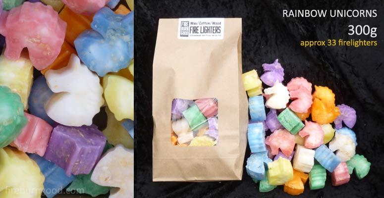 Deluxe Firelighters - Rainbow Unicorns