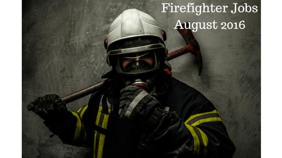 Firefighter jobs