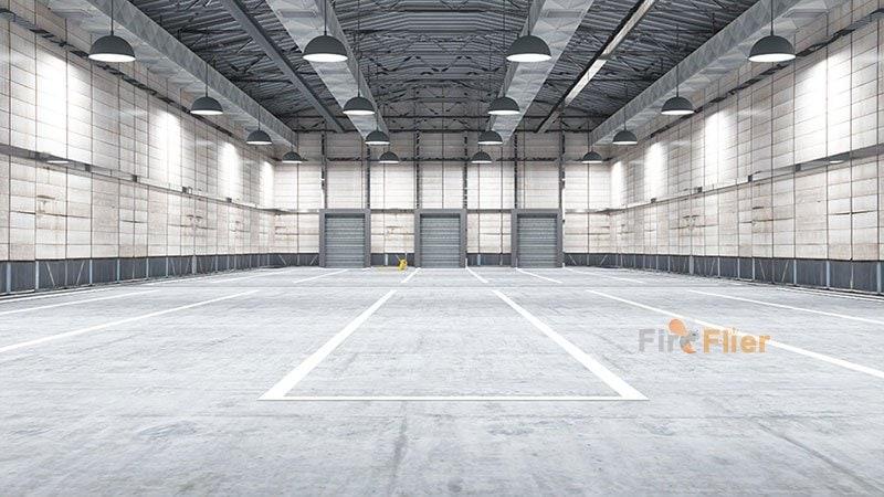 E40 Led high bay bulb in warehouse