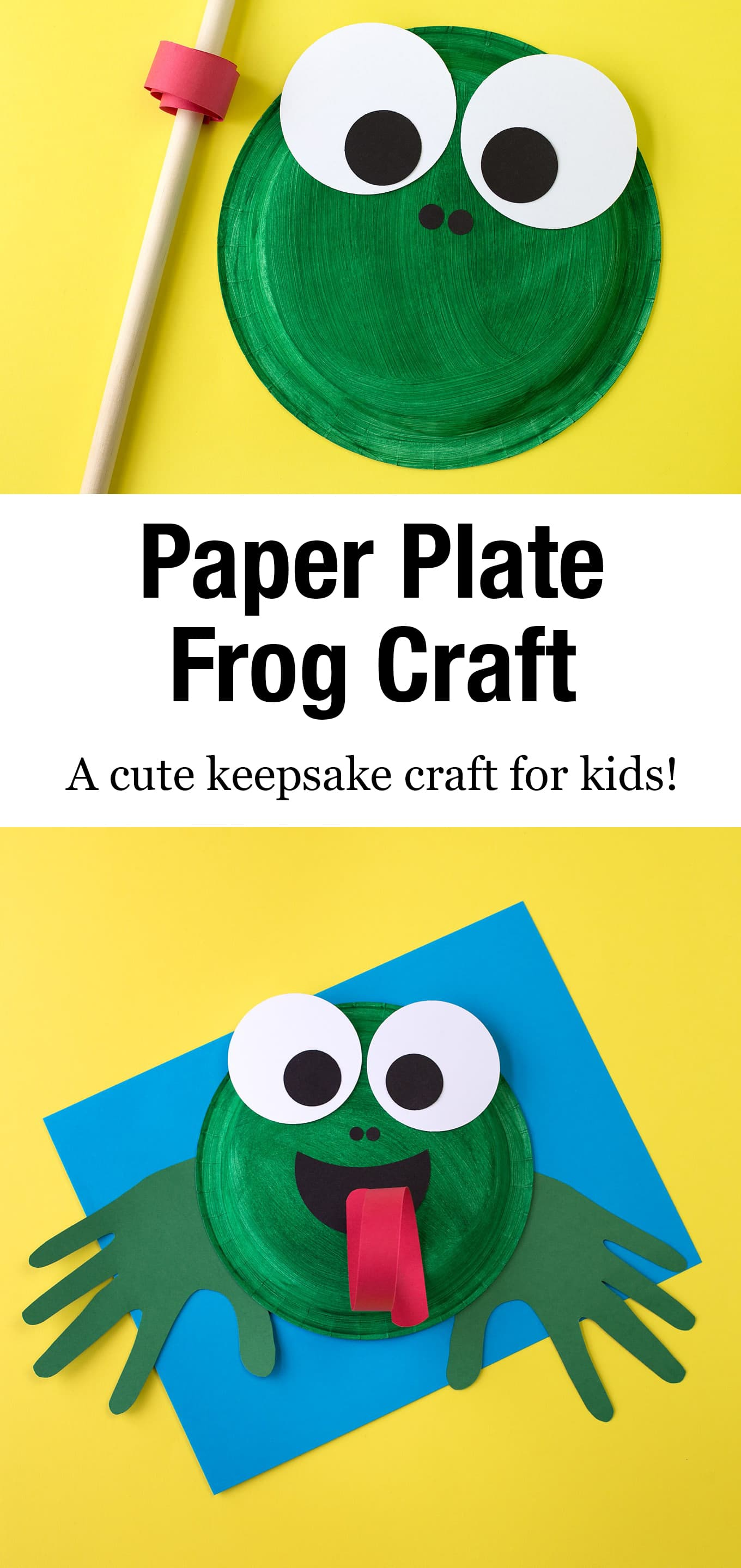 Learn how to make an adorable and fun Paper Plate Frog Craft for summer. This easy frog craft isperfect for helping kids, especially preschoolers, learn all about the life cycle of frogs and toads. #paperplatefrog #preschool #frogcraft #forkids #frogcraftsprescool #easy via @firefliesandmudpies