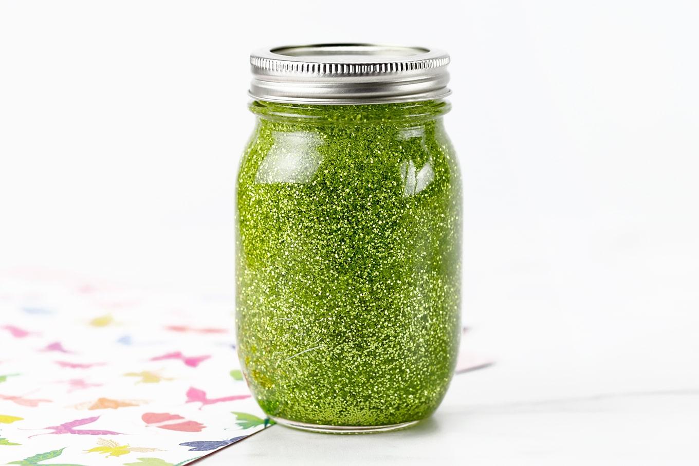 Chartreuse Glitter Jar