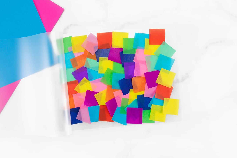 Tissue Paper Inside Laminating Pocket