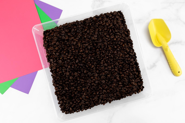 Coffee Bean Sensory Bin