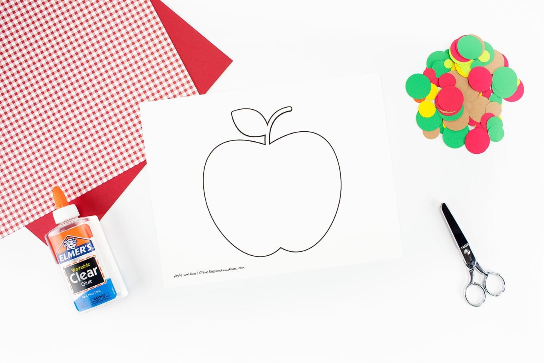 Free Printable Apple Outline