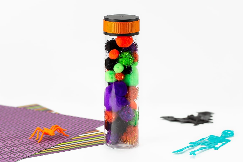 Halloween Pom Pom Sensory Bottle