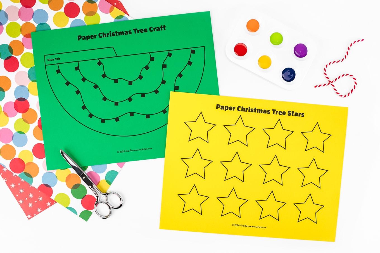 Paper Christmas Tree Craft Pattern