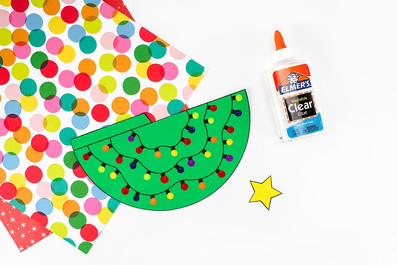 Fingerprint Christmas Tree Craft In-Process