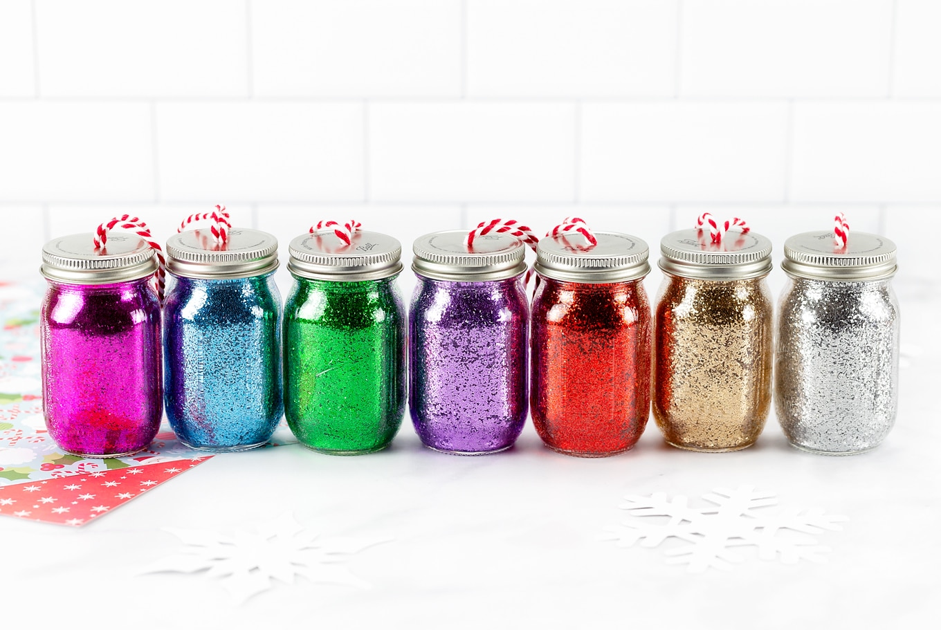 Glitter Jar Ornaments