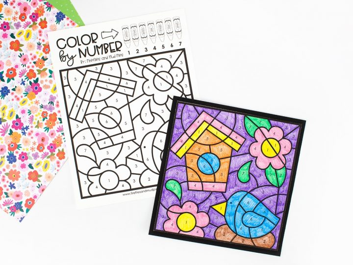 Spring Coloring by Number