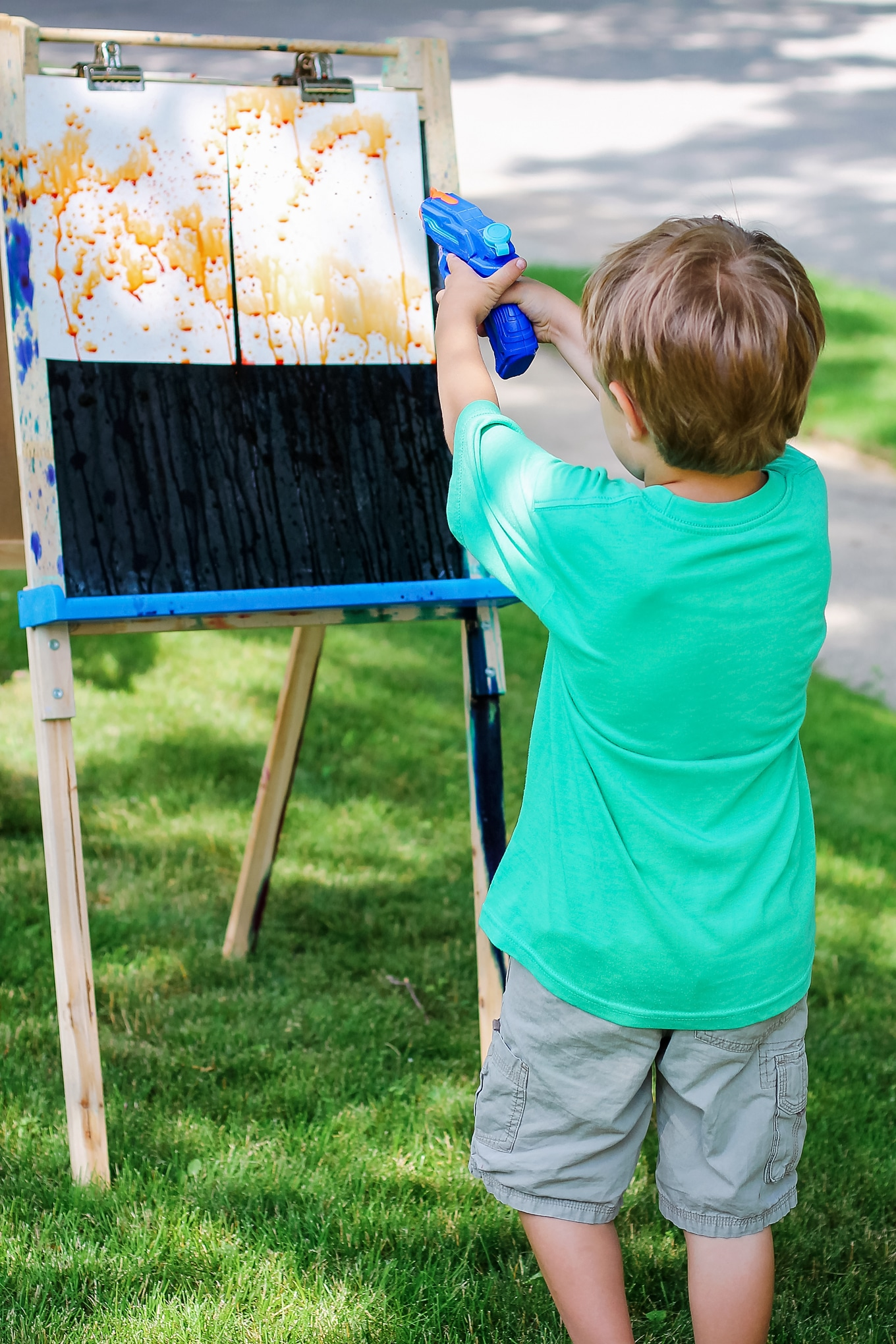 Child Squirt Gun Painting