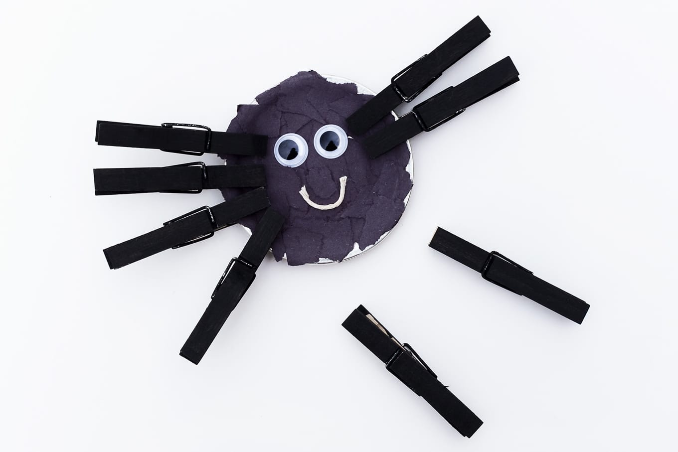 Spider Craft with Clothespin Legs