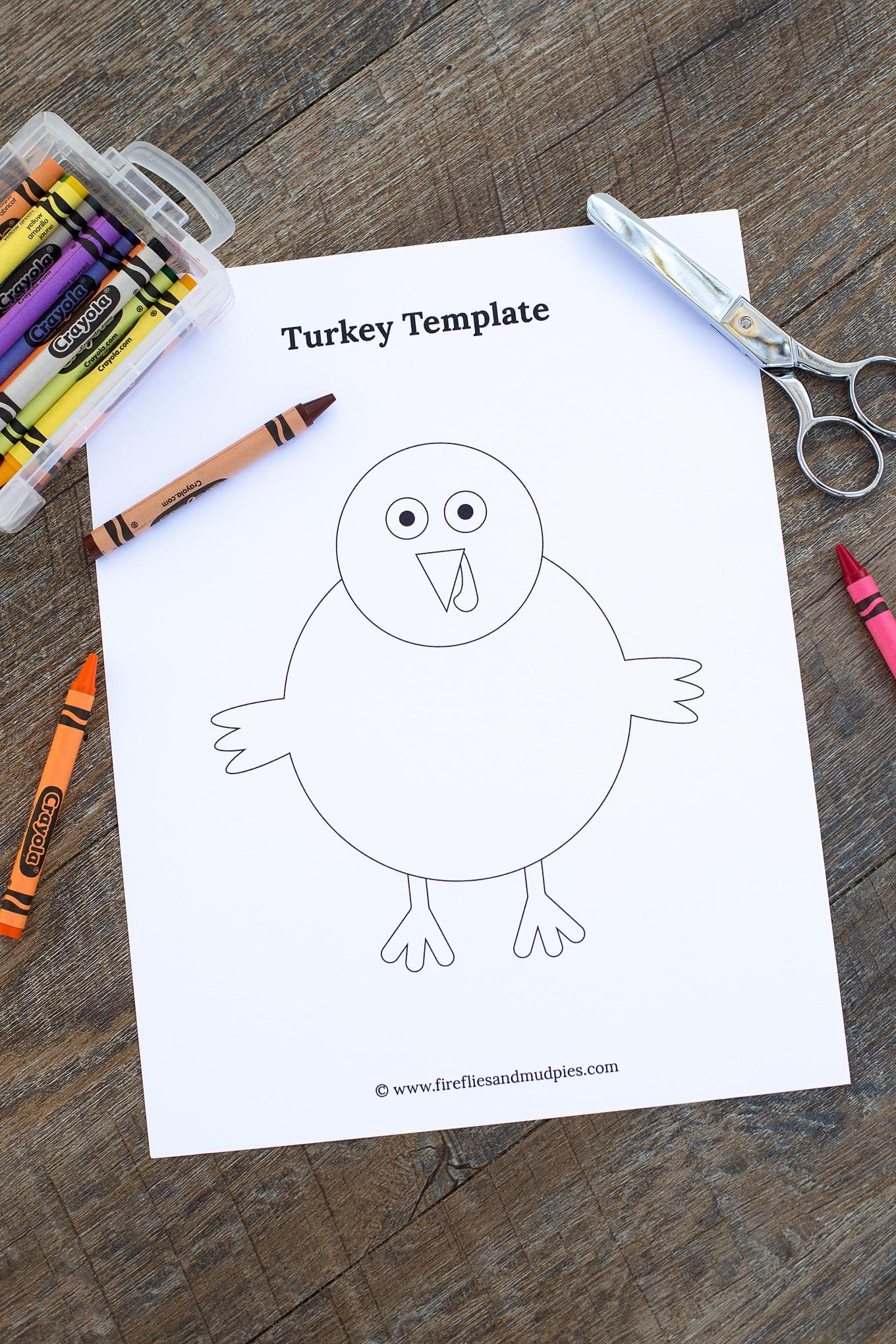Thanksgiving Turkey Craft Template