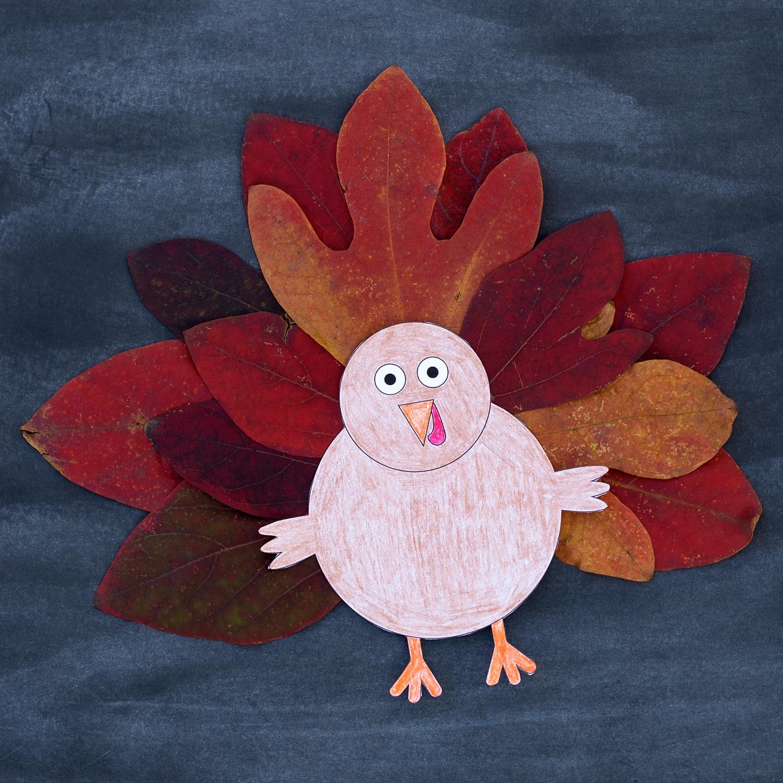 Design Your Own Turkey Nature Craft
