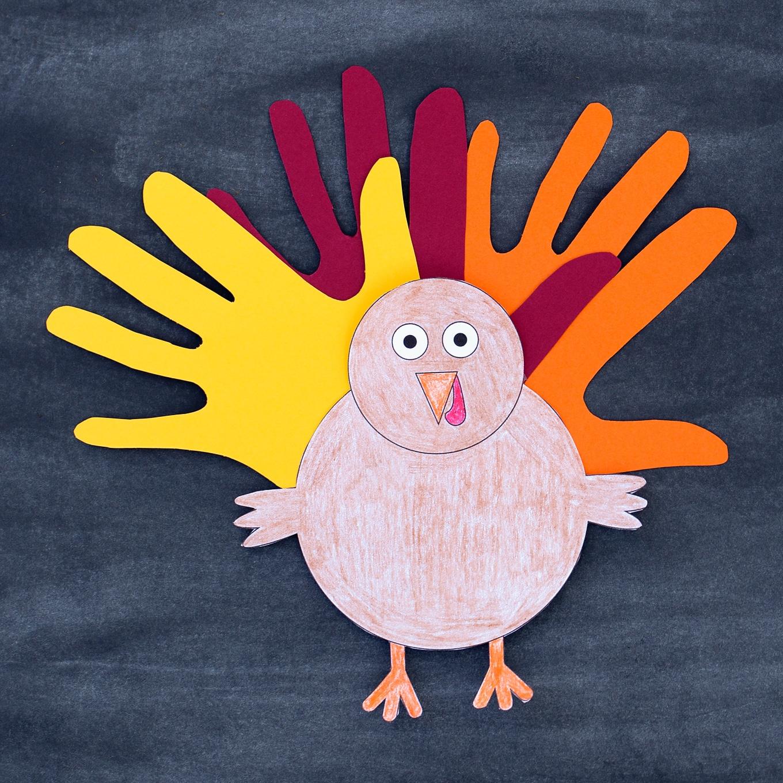 Handprint Turkey Craft for Kids