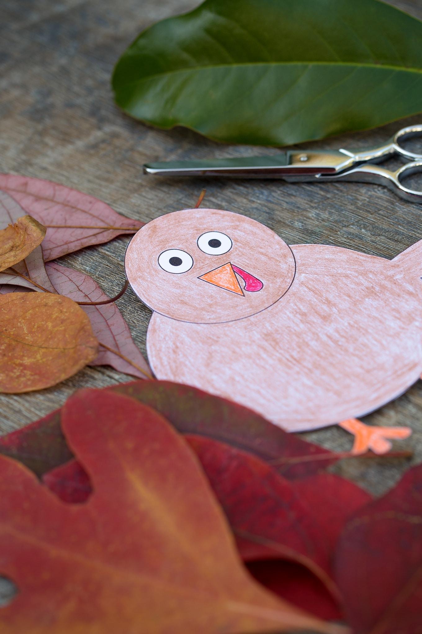 Thanksgiving Turkey Craft In-Process