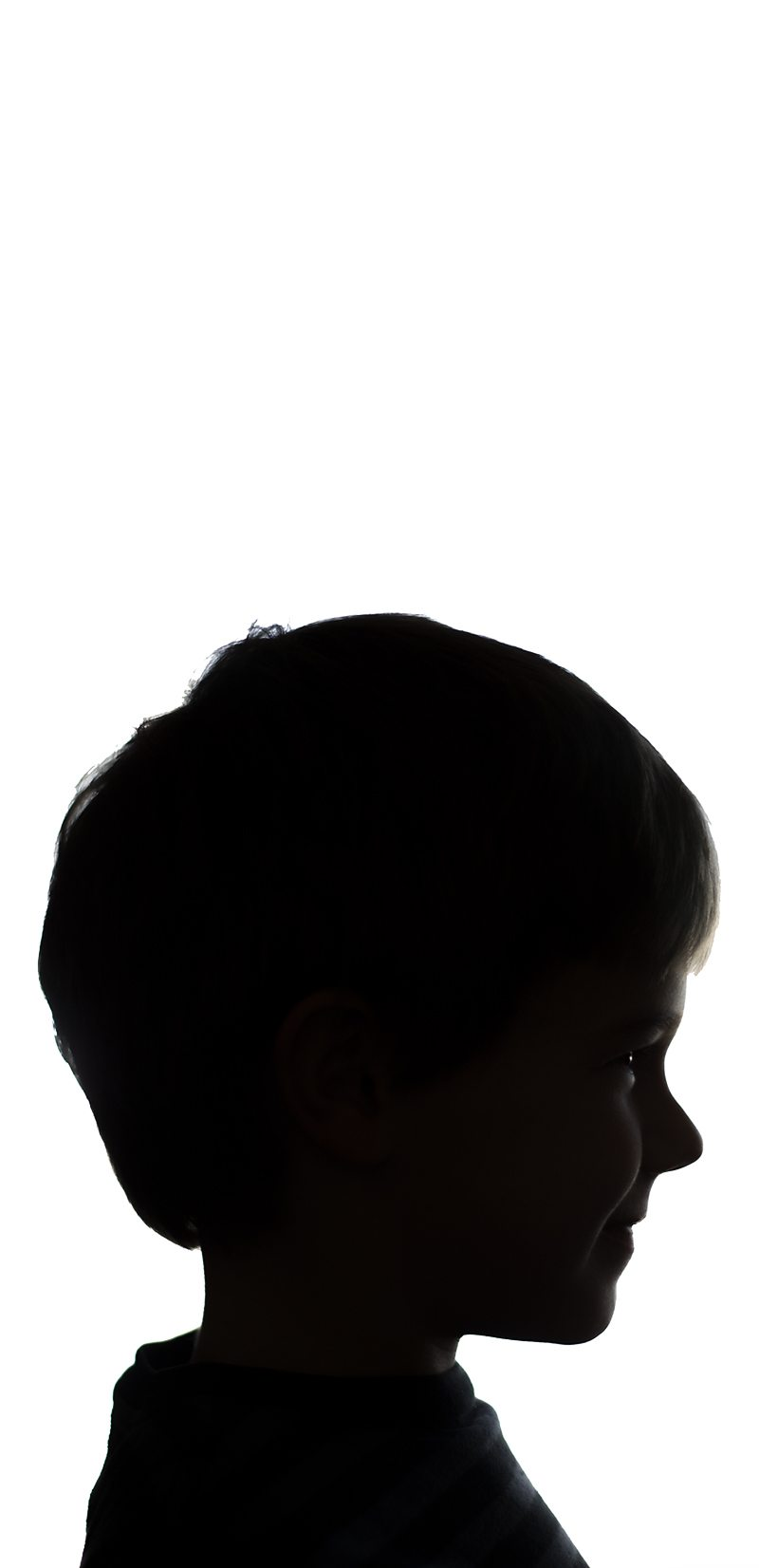 Easter Silhouette Portraits with Canvas Space