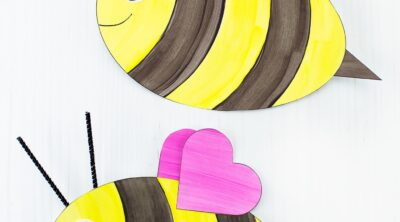 Easy Paper Bee Craft for Kids