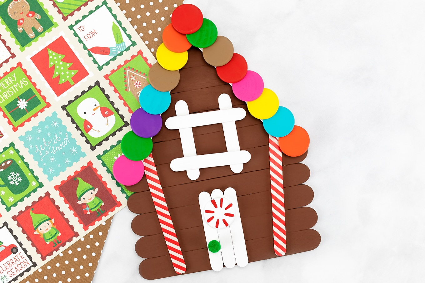How to Make a Popsicle Stick Gingerbread House