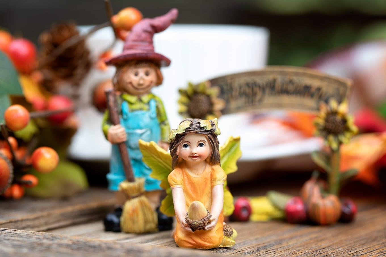 Resin Fairy for Fall Fairy Garden