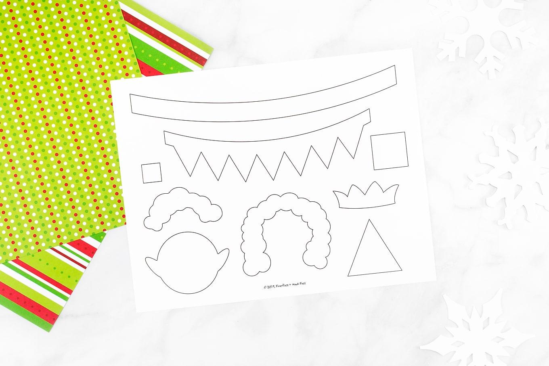 Paper Cup Elf Template