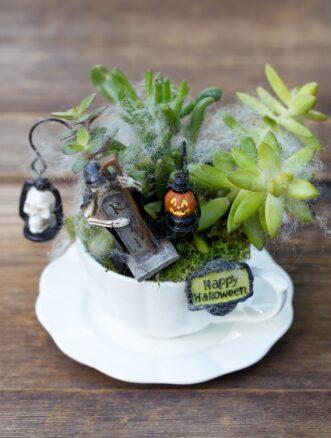 Halloween Teacup Garden