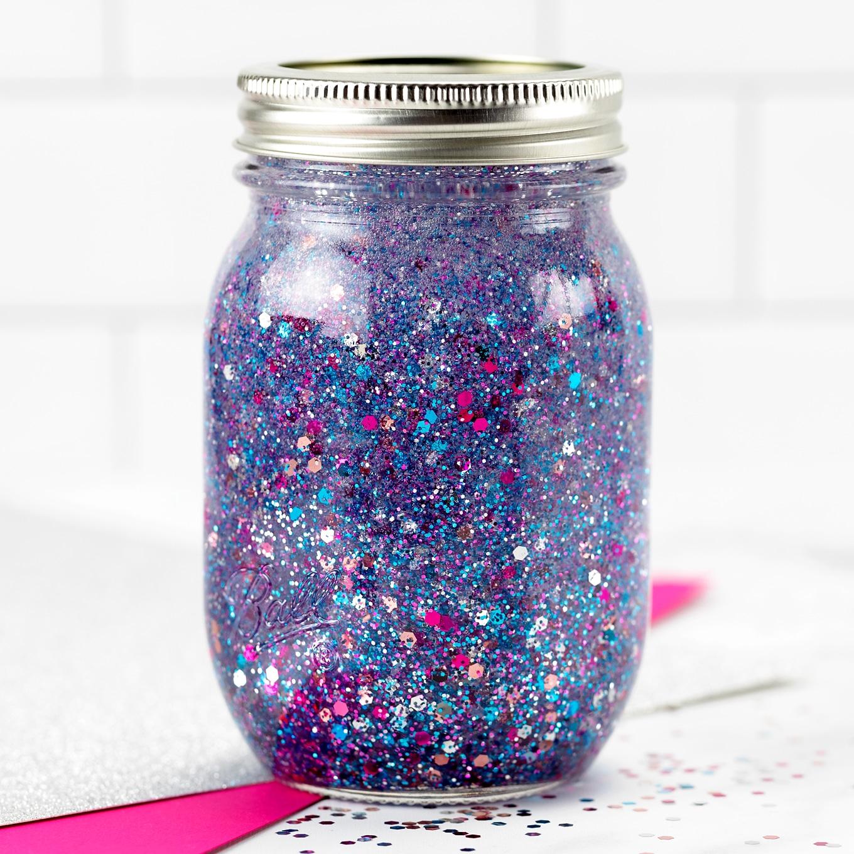 Purple Glitter Jar
