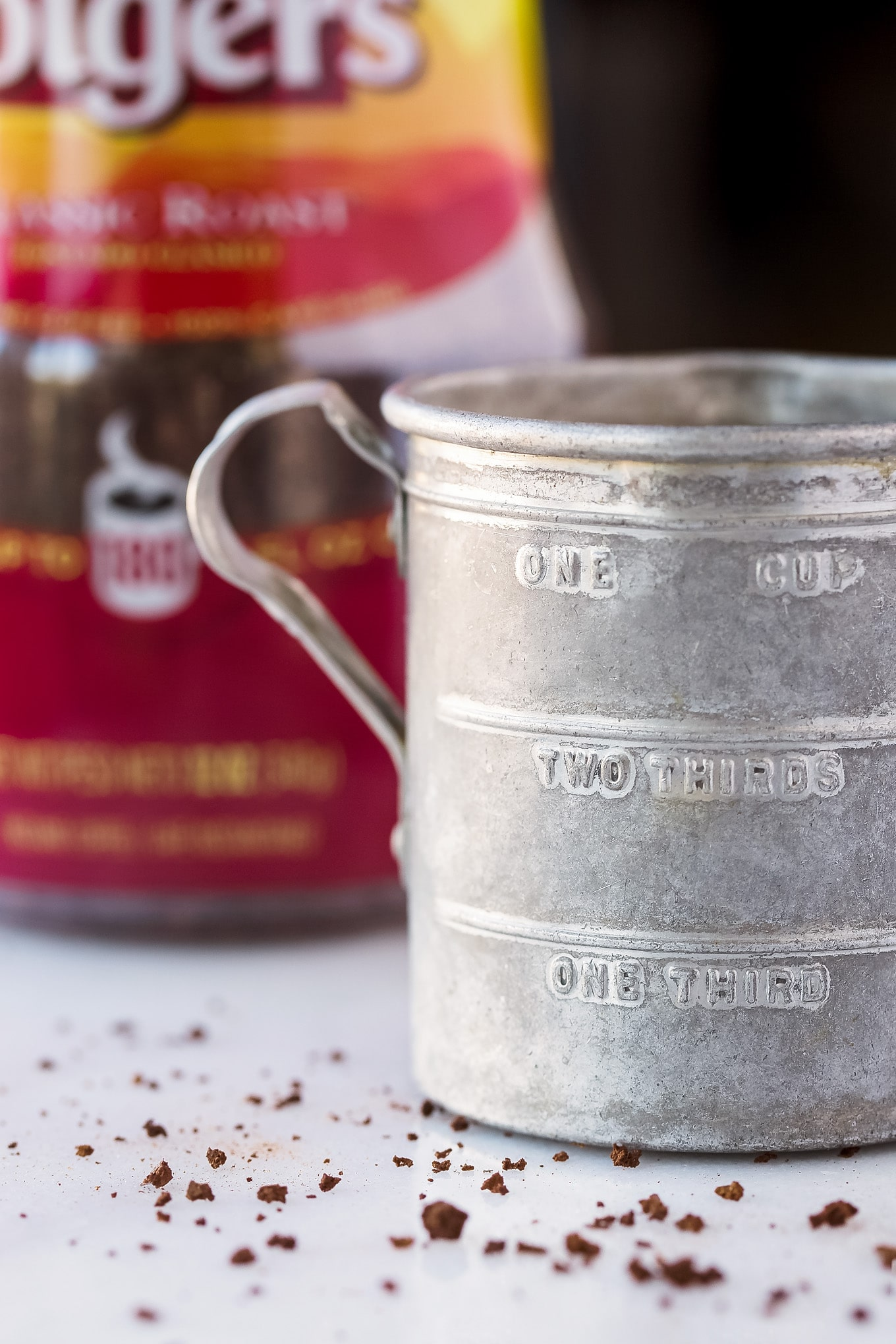 Instant Coffee and a Vintage Measuring Cup