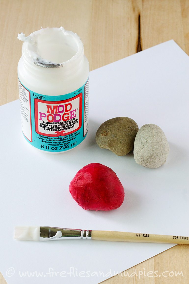 Supplies Needed for Ladybug Stones | Fireflies and Mud Pies